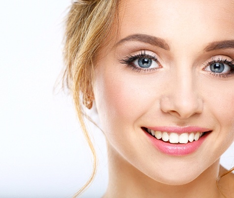Woman with an attractive smile after using BioClear in Lancaster.