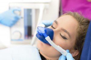 girl receiving sedation dentistry in Lancaster